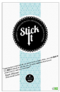 Stick It Adhesive - Die Cut Adhesive Sheets - Large - 5 Sheets